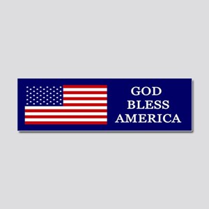 God Bless America Blue Car Magnet 10 x 3